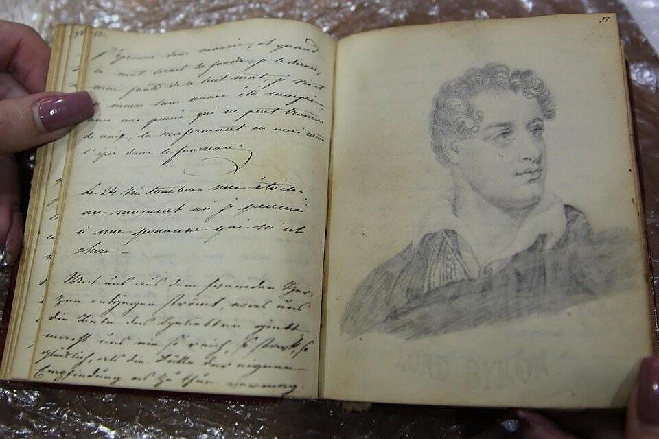 Такие книги вели дамы в начале 19 века